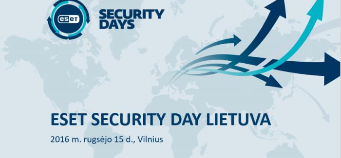 ESET Security Day Lietuva – aktualiausia informacija apie duomenų apsaugą