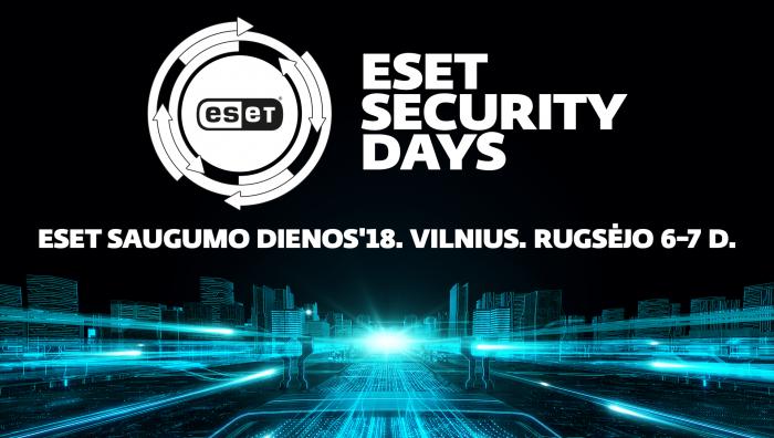 ESET saugumo dienose IT saugumas apžvelgiamas nuo teorijos prie praktikos