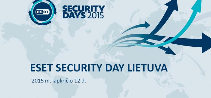 ESET Security Day Lietuva – išgirsk svarbiausius pranešimus apie IT saugumą