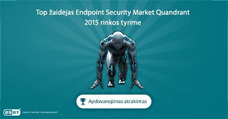 ESET paskelbta TOP žaidėja saugumo sprendimų rinkoje