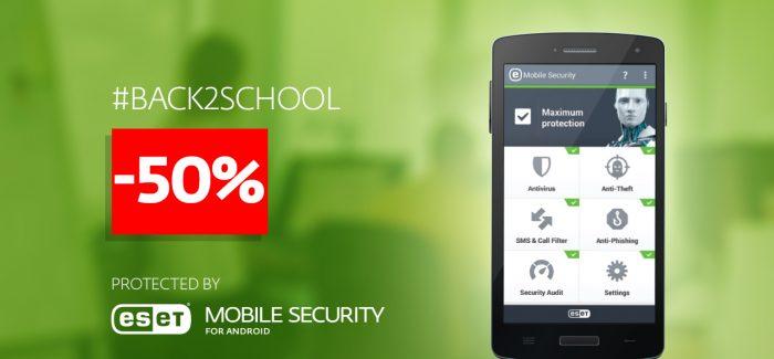 Pasiruošk rugsėjui – ESET Mobile Security su 50 proc. nuolaida