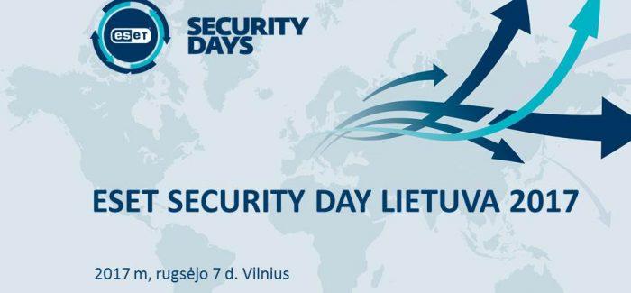 ESET Security Day Lietuva 2017 – išskirtinis dėmesys GDPR
