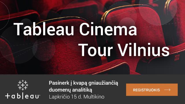 """Kviečiame į """"Tableau Cinema Tour Vilnius"""""""