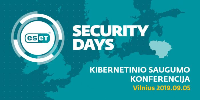 "Įvyko. ""ESET Security Day 2019"": tobula įmonės saugumo politika"