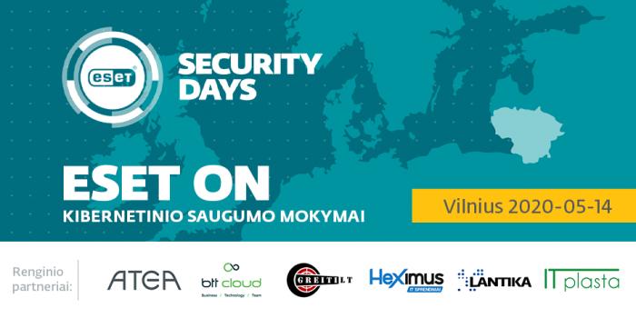 ESET Security Day: trys IT grėsmės, su kuriomis susiduriama dirbant per nuotolį