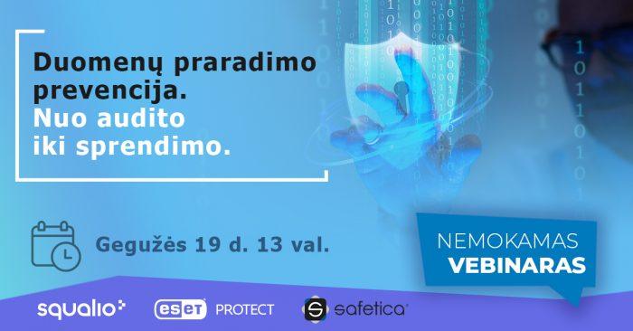Webseminaras. Duomenų praradimo prevencija. Nuo audito iki sprendimo